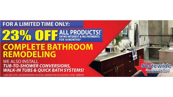 Bathroom Specials for Statewide Remodeling