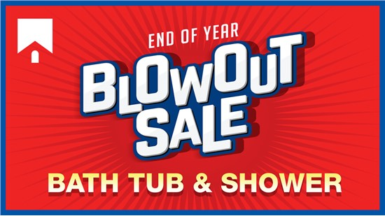 End of Year Blow Out Sale |  75% Off Installation on Your New Bath or Shower