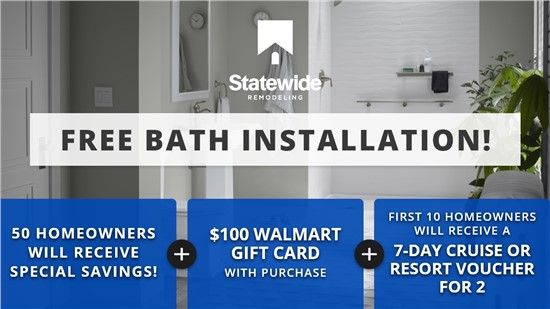 50 Homeowners Will Receive Special Savings on New Bath Or Shower! | Free Installation | 24 MONTHS 0% INTEREST!