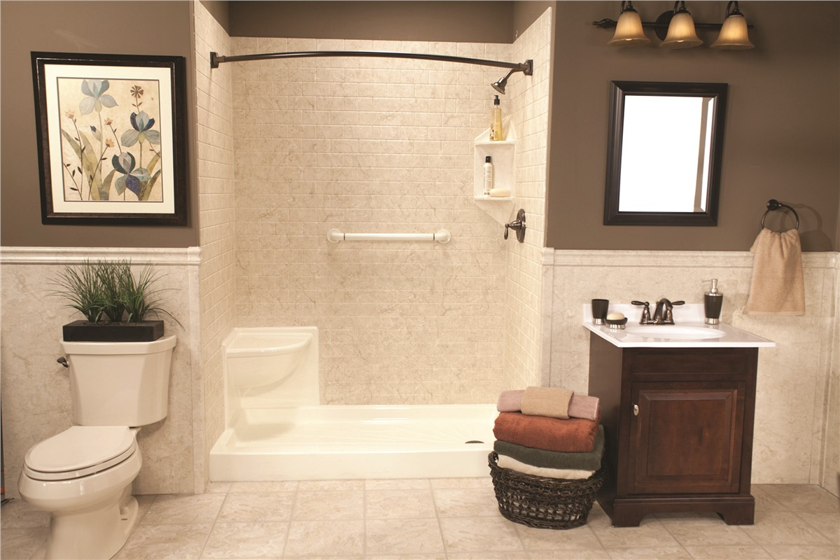 The bath company offers one day bathroom remodels for quad for Bathroom remodel quad cities