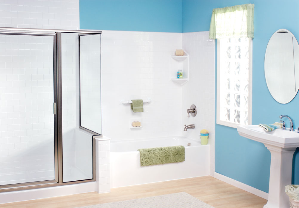 Bathtub Shower Combo Tub Shower Combo One Day Bath - 2 day bathroom remodel