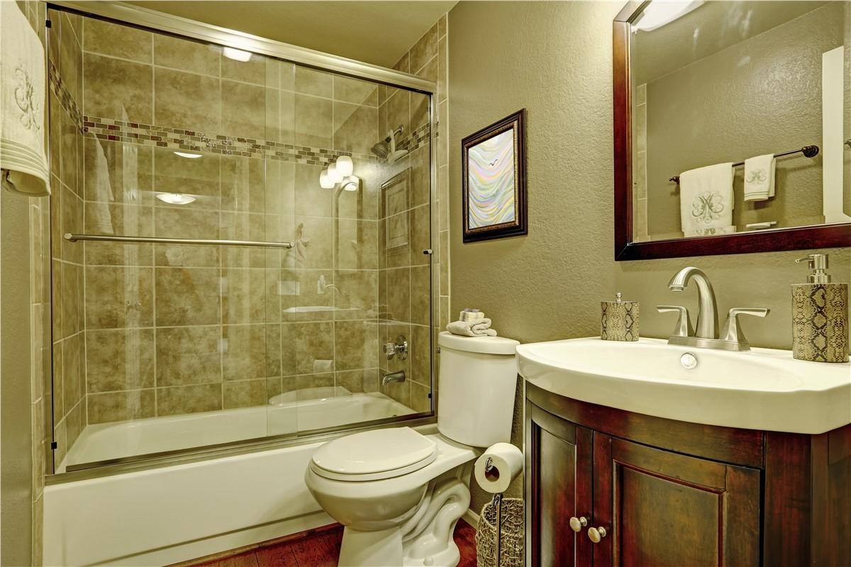 Small Bathroom Remodel With Bathtub small bath remodel chicago | guest bathroom remodel | tiger bath