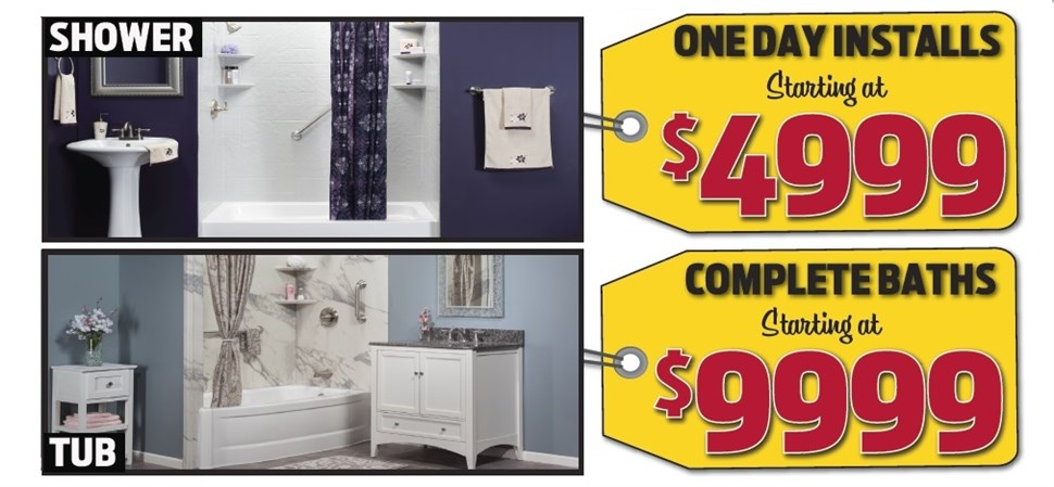 One Day Installs For Just $4999!