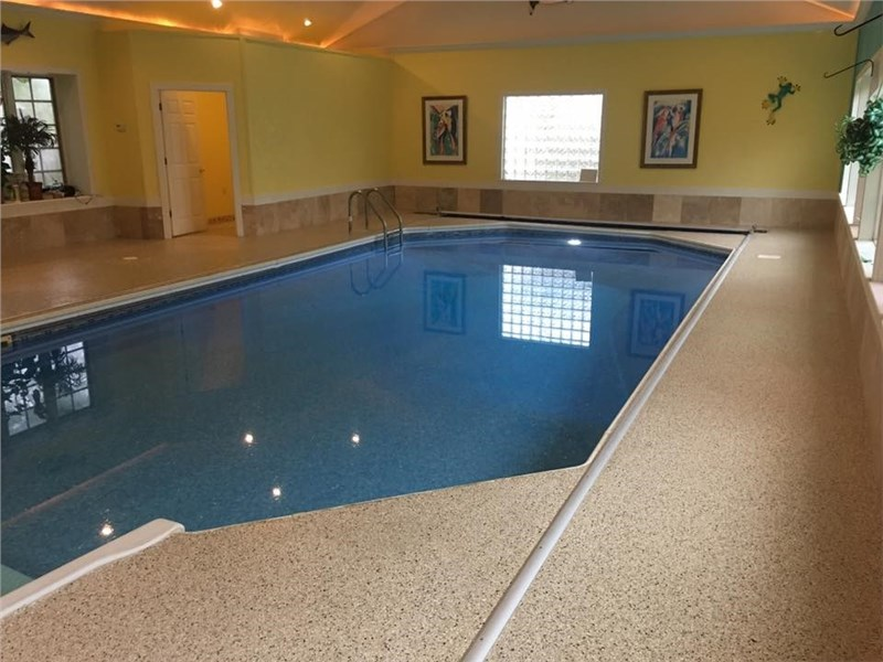 Concrete Floor Coating Installation for Your Pool Deck