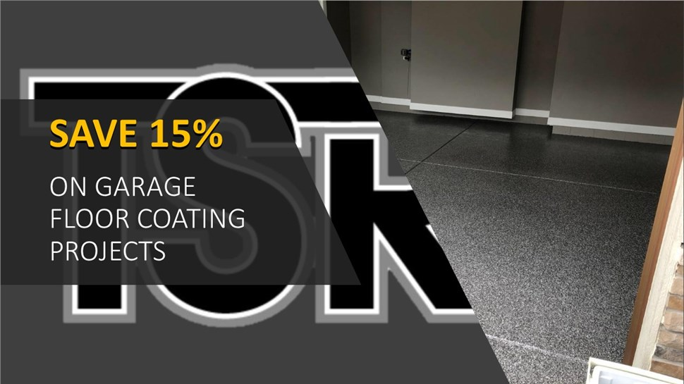 Save 15% on your next Garage Floor Coating Project