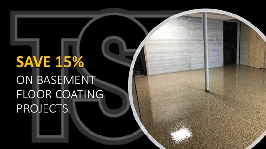 Save 15% on your next Basement Floor Coating Project