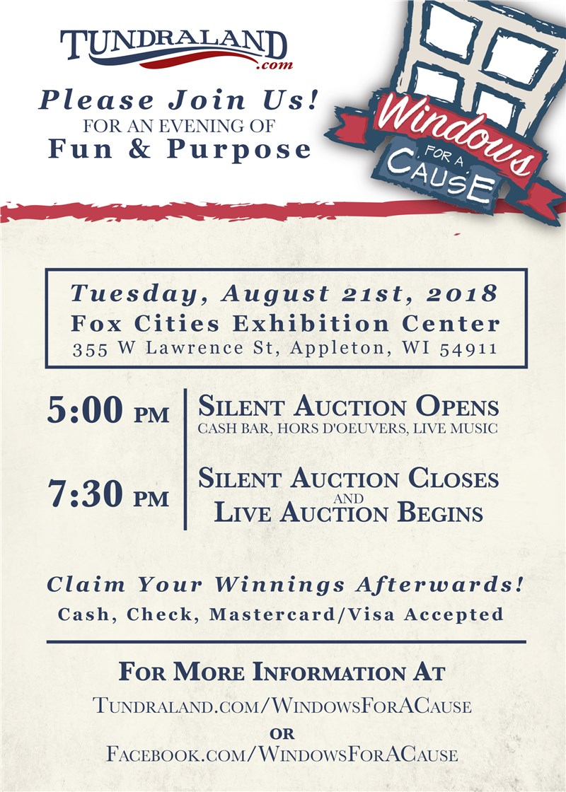 Our 3rd Anual Windows for a Cause Auction is here! 2018