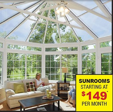 Huge Winter Savings!   Get $1,500 Cash Back on Your New Sunroom Plus - Limited Time