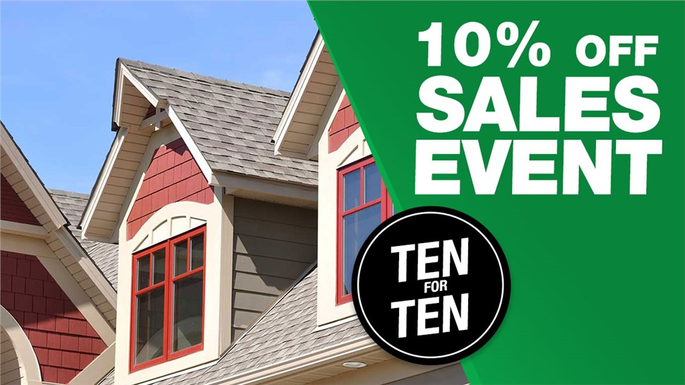 Ten for Ten Sales Event!