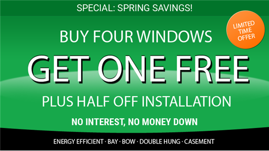 Buy 4 windows, get 1 Free