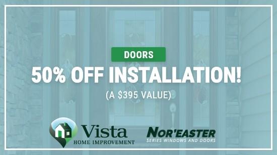 50% Off Door Installation!