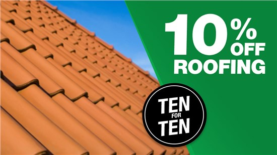 10% Off a New Roof!