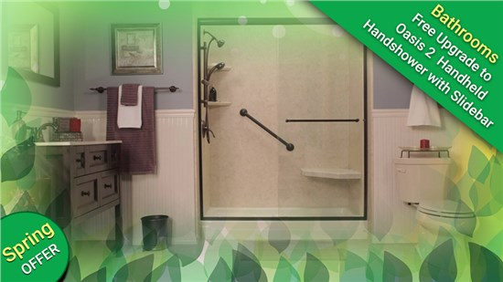 Receive a free upgrade with your bathroom remodel today!