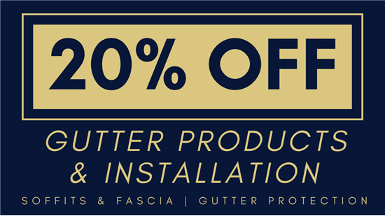 20% Off Gutters & Gutter Protection