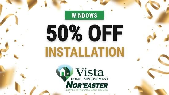 50% Off Window Installation