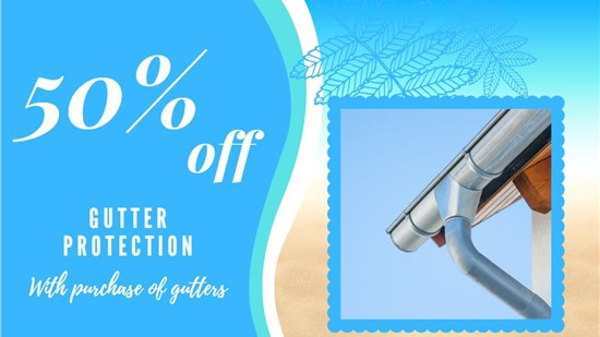 50% Off Gutter Protection