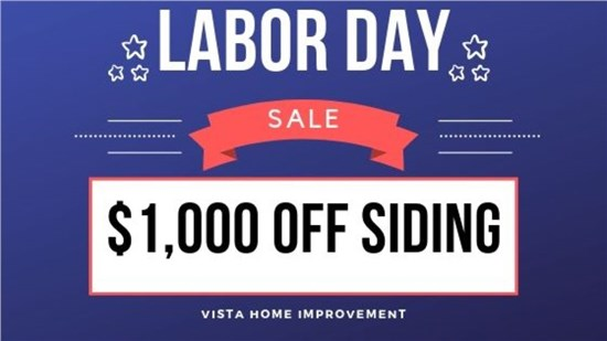 Receive $1,000 off a complete siding job!