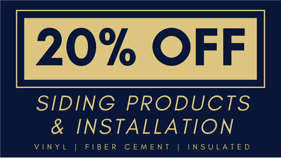 20% Off Complete Siding Projects & Installation