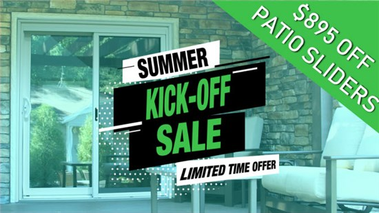 $895 Off Patio Slider Doors This Month Only
