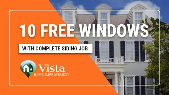 10 Free Windows with Complete Siding Job