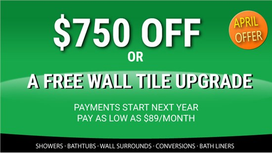 Enjoy a Stunning New Bathroom and Save $750!