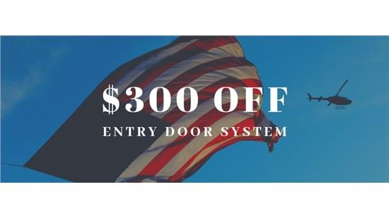 $300 OFF Entry Door Package