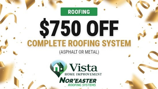 $750 Off Complete Roofing System!