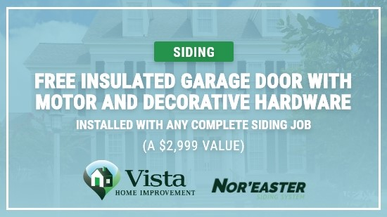 Free Insulated Garage Door with Complete Siding Job!