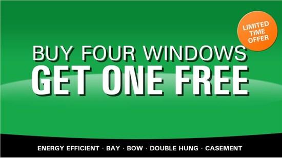 Buy 4 windows, get 1 free