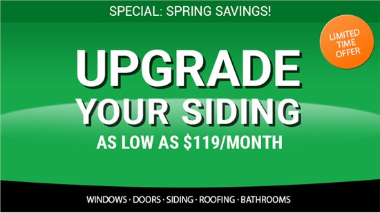Get a Complete Siding Upgrade For $119/Month