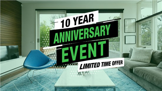 10% Off Patio Slider Doors This Month Only