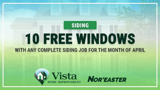Get 10 Free Windows with a Complete Siding Job!