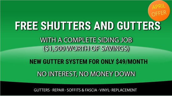 Enjoy Free Shutters & Gutters With A Complete Siding Job ($1500 Value)