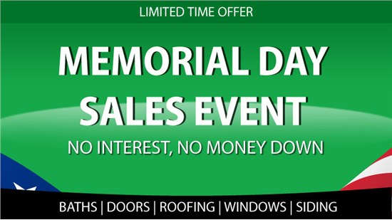 Memorial Day Sales Event- Biggest Sale of the Season!