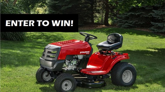 Enter to Win our Riding Lawn Mower Giveaway!