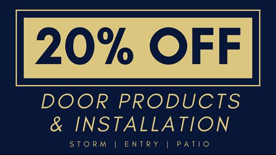 20% OFF Door Installation