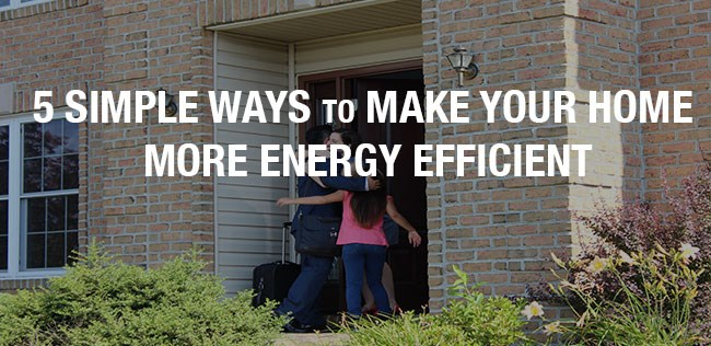 5 Simple Ways to Make Your Home More Energy Efficient!