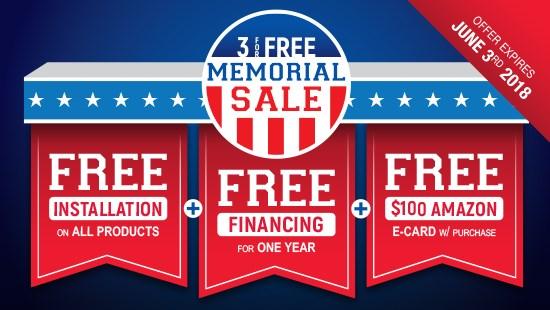 3 For Free Memorial Sale