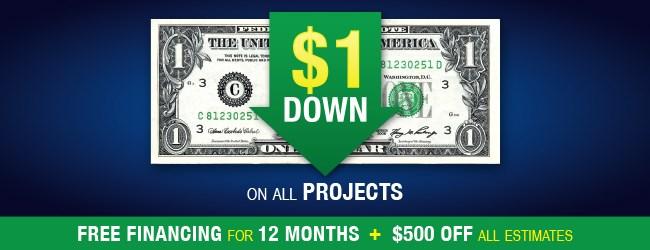 $1 Down Sale