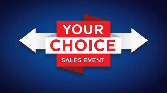 Your Choice: Door Sales Event