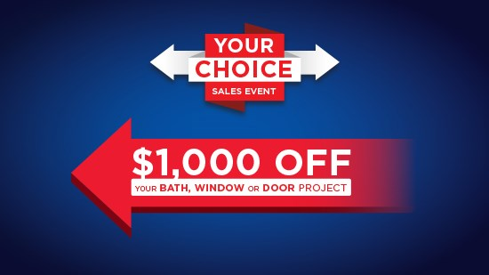 $1,000 off your next project