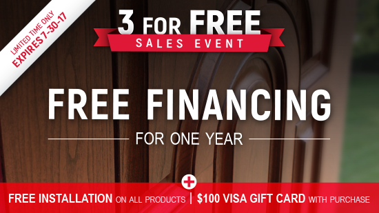 3 For Free Sales Event - Doors