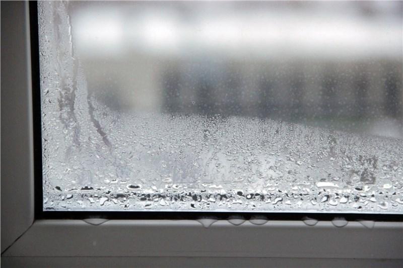 window damaged by water leaks