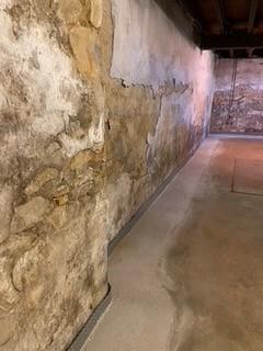 after waterproofing basement