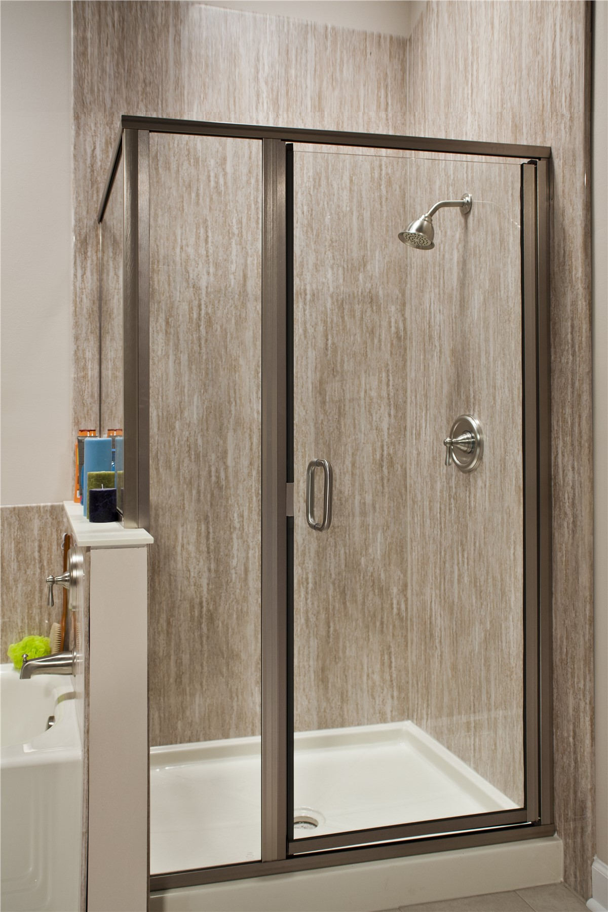 Shower enclosures shower enclosure company yhic for Bathroom shower stall replacement